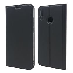 Ultra Slim Card Magnetic Automatic Suction Leather Wallet Case for Huawei Y9 (2019) - Star Grey