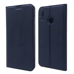Ultra Slim Card Magnetic Automatic Suction Leather Wallet Case for Huawei Y9 (2019) - Royal Blue