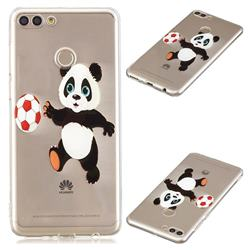 Football Panda Super Clear Soft TPU Back Cover for Huawei Y9 (2018)