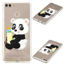 Baby Panda Super Clear Soft TPU Back Cover for Huawei Y9 (2018)