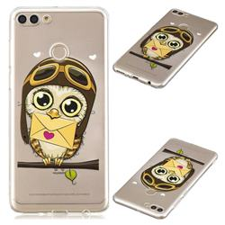 Envelope Owl Super Clear Soft TPU Back Cover for Huawei Y9 (2018)