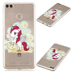 Cloud Star Unicorn Super Clear Soft TPU Back Cover for Huawei Y9 (2018)