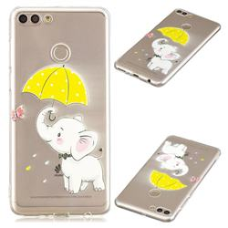 Umbrella Elephant Super Clear Soft TPU Back Cover for Huawei Y9 (2018)