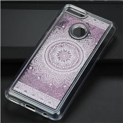 Mandala Glassy Glitter Quicksand Dynamic Liquid Soft Phone Case for Huawei Y9 (2018)
