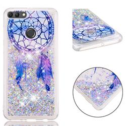 Fantasy Wind Chimes Dynamic Liquid Glitter Quicksand Soft TPU Case for Huawei Y9 (2018)