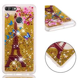 Golden Tower Dynamic Liquid Glitter Quicksand Soft TPU Case for Huawei Y9 (2018)
