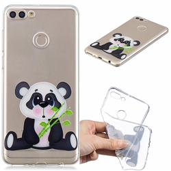 Bamboo Panda Clear Varnish Soft Phone Back Cover for Huawei Y9 (2018)