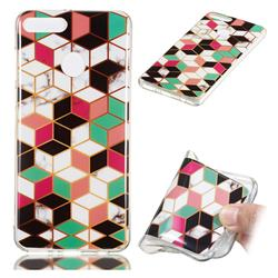 Three-dimensional Square Soft TPU Marble Pattern Phone Case for Huawei Y9 (2018)