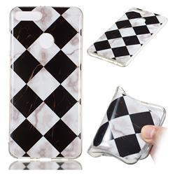 Black and White Matching Soft TPU Marble Pattern Phone Case for Huawei Y9 (2018)
