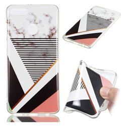 Pinstripe Soft TPU Marble Pattern Phone Case for Huawei Y9 (2018)