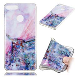 Purple Amber Soft TPU Marble Pattern Phone Case for Huawei Y9 (2018)