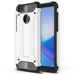 King Kong Armor Premium Shockproof Dual Layer Rugged Hard Cover for Huawei Y9 (2018) - White
