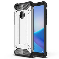 King Kong Armor Premium Shockproof Dual Layer Rugged Hard Cover for Huawei Y9 (2018) - Technology Silver