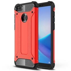 King Kong Armor Premium Shockproof Dual Layer Rugged Hard Cover for Huawei Y9 (2018) - Big Red