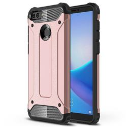King Kong Armor Premium Shockproof Dual Layer Rugged Hard Cover for Huawei Y9 (2018) - Rose Gold