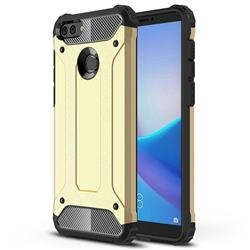 King Kong Armor Premium Shockproof Dual Layer Rugged Hard Cover for Huawei Y9 (2018) - Champagne Gold