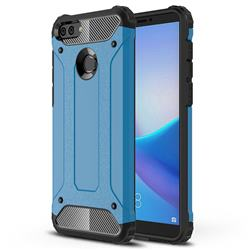 King Kong Armor Premium Shockproof Dual Layer Rugged Hard Cover for Huawei Y9 (2018) - Sky Blue