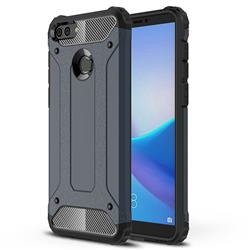 King Kong Armor Premium Shockproof Dual Layer Rugged Hard Cover for Huawei Y9 (2018) - Navy