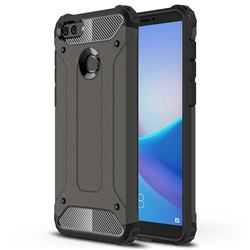 King Kong Armor Premium Shockproof Dual Layer Rugged Hard Cover for Huawei Y9 (2018) - Bronze