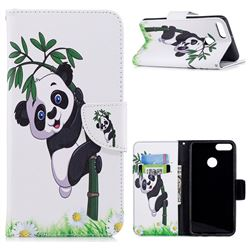 Bamboo Panda Leather Wallet Case for Huawei Y9 (2018)