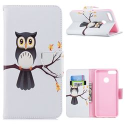 Owl on Tree Leather Wallet Case for Huawei Y9 (2018)