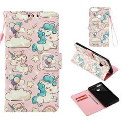 Angel Pony 3D Painted Leather Wallet Case for Huawei Y9 (2018)