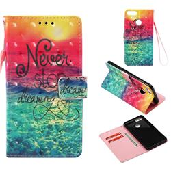 Colorful Dream Catcher 3D Painted Leather Wallet Case for Huawei Y9 (2018)