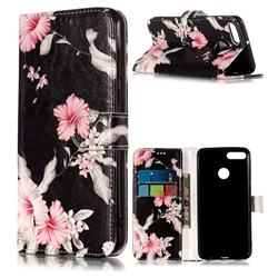 Azalea Flower PU Leather Wallet Case for Huawei Y9 (2018)