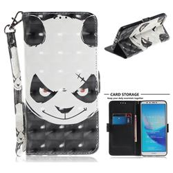 Angry Bear 3D Painted Leather Wallet Phone Case for Huawei Y9 (2018)