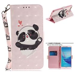 Heart Cat 3D Painted Leather Wallet Phone Case for Huawei Y9 (2018)
