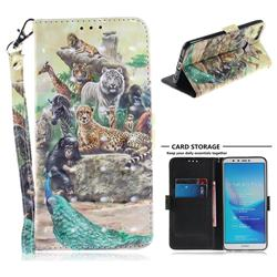 Beast Zoo 3D Painted Leather Wallet Phone Case for Huawei Y9 (2018)