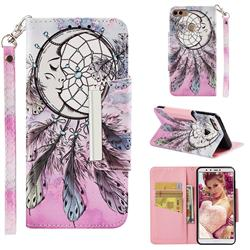 Angel Monternet Big Metal Buckle PU Leather Wallet Phone Case for Huawei Y9 (2018)
