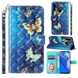 Rankine Butterfly 3D Leather Phone Holster Wallet Case for Huawei Y9 Prime (2019)