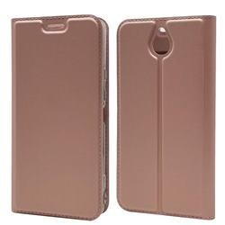 Ultra Slim Card Magnetic Automatic Suction Leather Wallet Case for Kyocera 705KC - Rose Gold