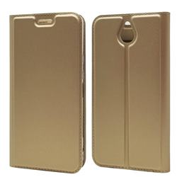 Ultra Slim Card Magnetic Automatic Suction Leather Wallet Case for Kyocera 705KC - Champagne