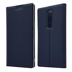 Ultra Slim Card Magnetic Automatic Suction Leather Wallet Case for Kyocera Urbano V04 - Royal Blue