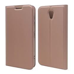 Ultra Slim Card Magnetic Automatic Suction Leather Wallet Case for Kyocera Digno BX 901KC - Rose Gold