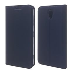 Ultra Slim Card Magnetic Automatic Suction Leather Wallet Case for Kyocera Digno BX 901KC - Royal Blue