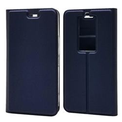 Ultra Slim Card Magnetic Automatic Suction Leather Wallet Case for Kyocera Basio3 KYV43 - Royal Blue