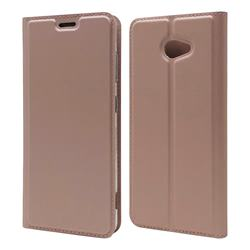 Ultra Slim Card Magnetic Automatic Suction Leather Wallet Case for Kyocera BASIO4 KYV47 - Rose Gold