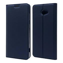 Ultra Slim Card Magnetic Automatic Suction Leather Wallet Case for Kyocera BASIO4 KYV47 - Royal Blue
