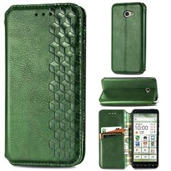 Ultra Slim Fashion Business Card Magnetic Automatic Suction Leather Flip Cover for Kyocera BASIO4 KYV47 - Green