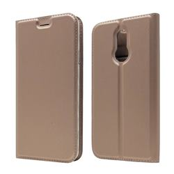 Ultra Slim Card Magnetic Automatic Suction Leather Wallet Case for LG L-03K Style LTE JP - Rose Gold