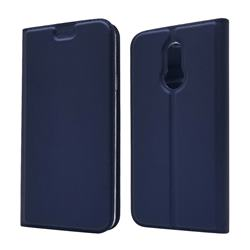 Ultra Slim Card Magnetic Automatic Suction Leather Wallet Case for LG L-03K Style LTE JP - Royal Blue