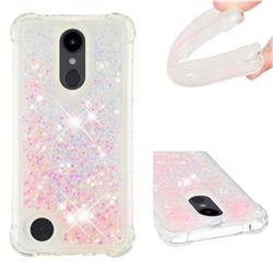 Dynamic Liquid Glitter Sand Quicksand TPU Case for LG Aristo 2 - Silver Powder Star