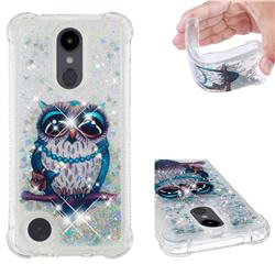 Sweet Gray Owl Dynamic Liquid Glitter Sand Quicksand Star TPU Case for LG Aristo 2