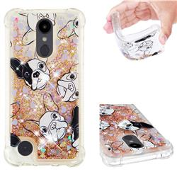 Bulldog Dynamic Liquid Glitter Sand Quicksand Star TPU Case for LG Aristo 2