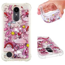 Angel Pony Dynamic Liquid Glitter Sand Quicksand Star TPU Case for LG Aristo 2