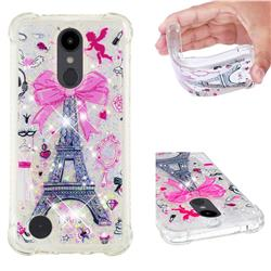 Mirror and Tower Dynamic Liquid Glitter Sand Quicksand Star TPU Case for LG Aristo 2