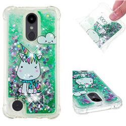 Tiny Unicorn Dynamic Liquid Glitter Sand Quicksand Star TPU Case for LG Aristo 2